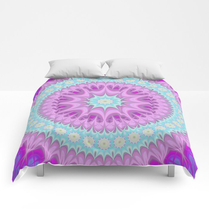Girly mandala Comforters