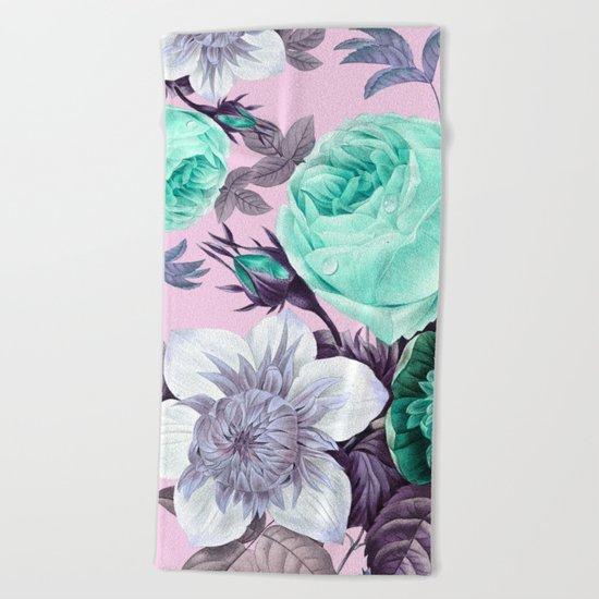 Blushing Bloom Beach Towel