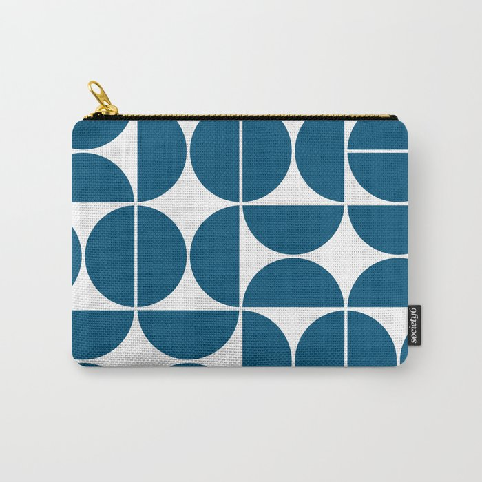 Mid Century Modern Geometric 04 Blue Carry-All Pouch