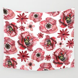 Red Poppies Wall Tapestry