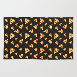 Cool and fun pizza slices pattern Rug