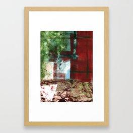 """Through the Window"" Monotype/Printmaking/Painting Framed Art Print"