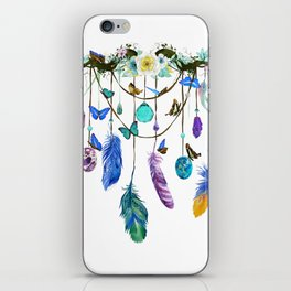 Folkestone Feather, Crystal And Butterfly Spirit Gazer iPhone Skin