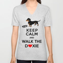 Walk the Doxie Unisex V-Neck