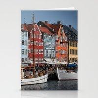 copenhagen Stationery Cards featuring Nyhavn, Copenhagen by Paul J Davis Photography