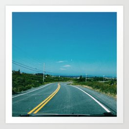 The Road Knows. Art Print
