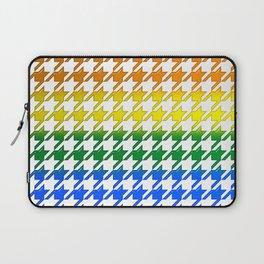 Houndstooth Large Rainbow Bevel Laptop Sleeve