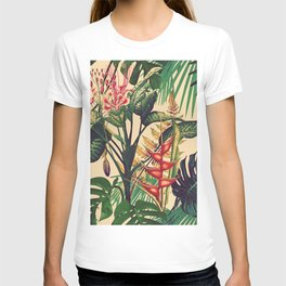Vintage Tropical Flora (green) T-shirt