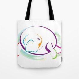 Rainbow Manatee Tote Bag