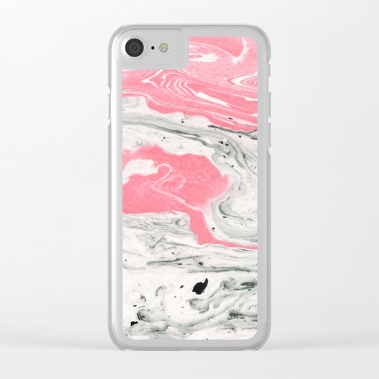 Marble + Bubblegum #society6 #decor #buyart Clear iPhone Case