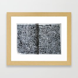 Notes from the classroom Framed Art Print