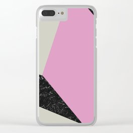 Color block Clear iPhone Case