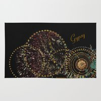 gypsy Area & Throw Rugs featuring Gypsy by Sherri of Palm Springs   Art and Design