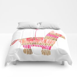 Mexican Donkey Piñata – Pink & Rose Gold Palette Comforters