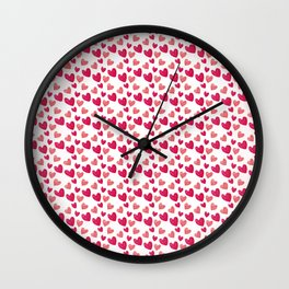 Hearts Pattern - Pink Heart - Heart Love for Valentine's Day Wall Clock