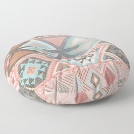 Aztec Artisan Tribal in Pink Floor Pillow