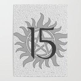 SPN Print (Grey) Poster