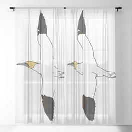 Flying Gannet Sheer Curtain