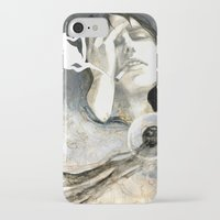 cigarettes iPhone & iPod Cases featuring Coffee & Cigarettes by Jana Heidersdorf Illustration