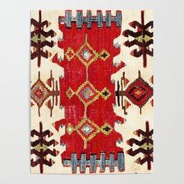 Burdur  Antique South West Anatolia Turkish Kilim Print Poster