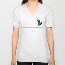 Fishcrow hoddy (grey) Unisex V-Neck