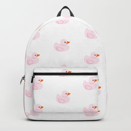 Pink rubber duck Backpack