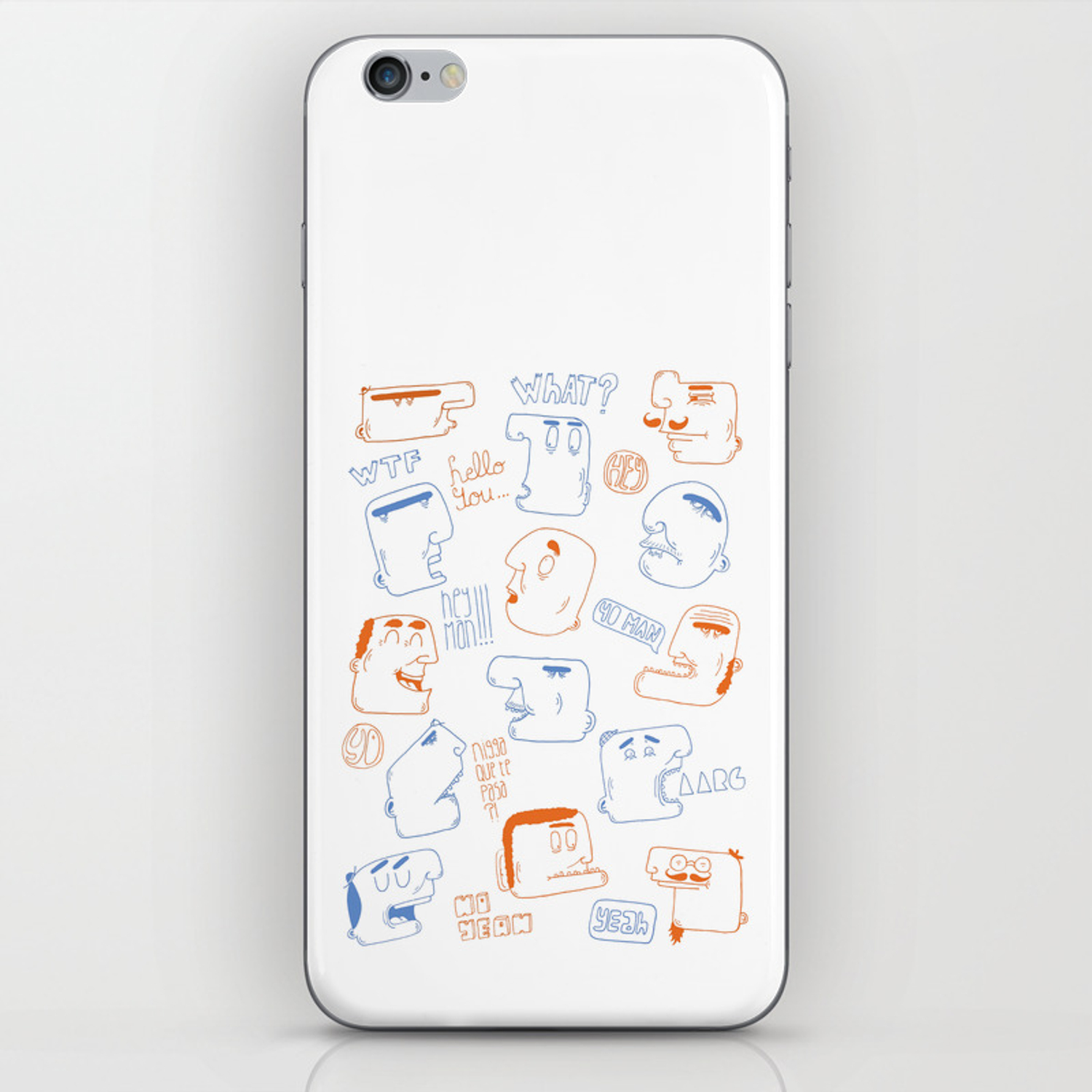 weird pattern iphone skin by patino society6 society6