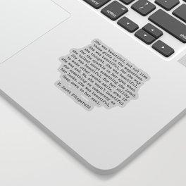 She Was Beautiful, F. Scott Fitzgerald, Quote Sticker