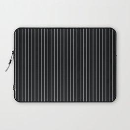 Black Linen Sterling Luna Song Pinstripe Laptop Sleeve