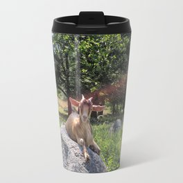 Sunshine and Goats Travel Mug