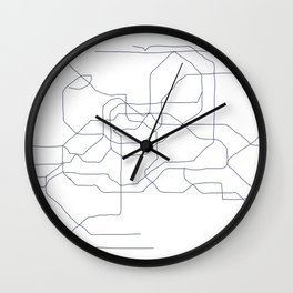 Seoul Subway Wall Clock
