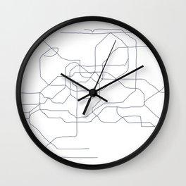 Seoul Subway Wall Clock
