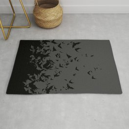An Unkindness of Ravens (Grey) Rug