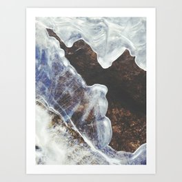 Patterned River Ice Art Print