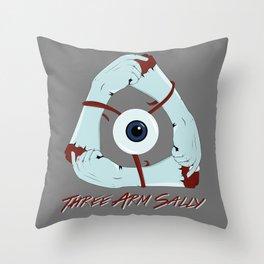 Three Arm Sally Throw Pillow