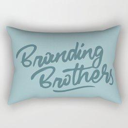 Branding Brothers turquoise Rectangular Pillow