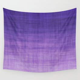 Ultra Violet Purple Linen Ombre Textile Grunge Woven Cotton Gradient Texture Lavender Lilac Pattern Wall Tapestry