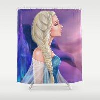 elsa Shower Curtains featuring Elsa by Jolenebydesign