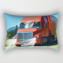 Big Red - Lorry Art for Truck-lovers and Truckers Rectangular Pillow