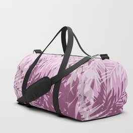 Pink tropical background Duffle Bag