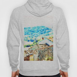 Borrello: village houses with landscape Hoody