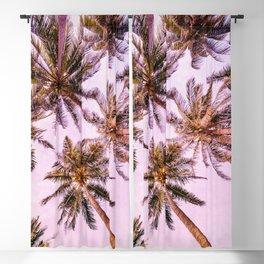 PASTEL PALM TREES no5 Blackout Curtain