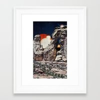 queens of the stone age Framed Art Prints featuring Stone Age by Collage Calamity