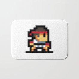 Minimalistic Ryu - Pixel Art Bath Mat