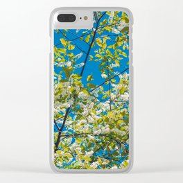 Flowering branches of a blossoming cherry against Clear iPhone Case