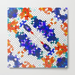 Colorful Mosaic Pattern Metal Print