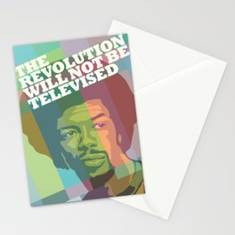 The revolution will not be televised Stationery Cards