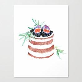 Fig Cake Canvas Print