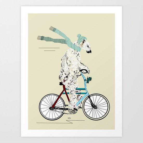 polar bear days  Art Print