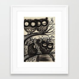 Sooty Owl Flock Framed Art Print